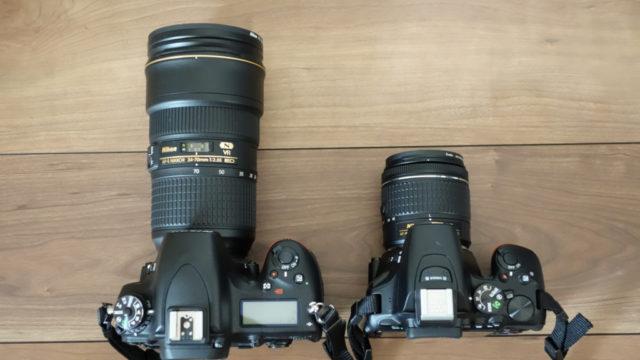 フルサイズとAPS-Cカメラ比較