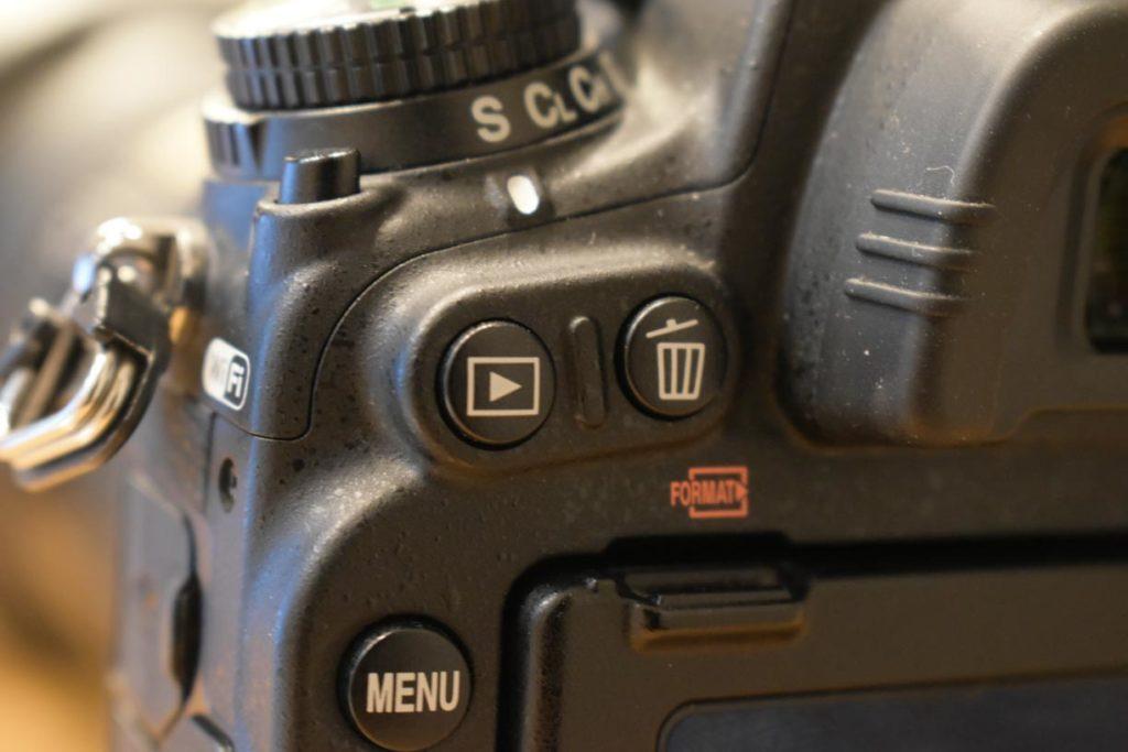 D750再生ボタン