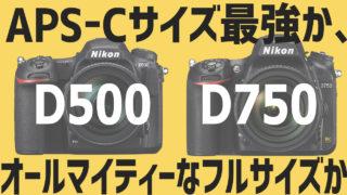 ニコンD500かニコンD750