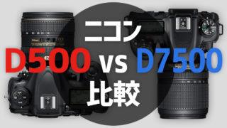 D500とD7500の比較