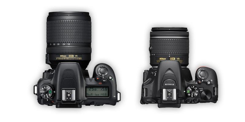D7500とD5600の上面