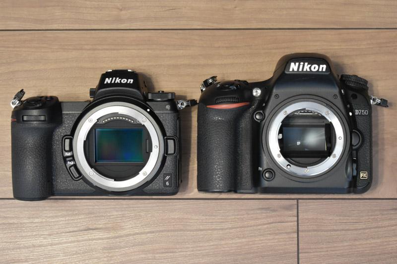 左:Z6 右:D750