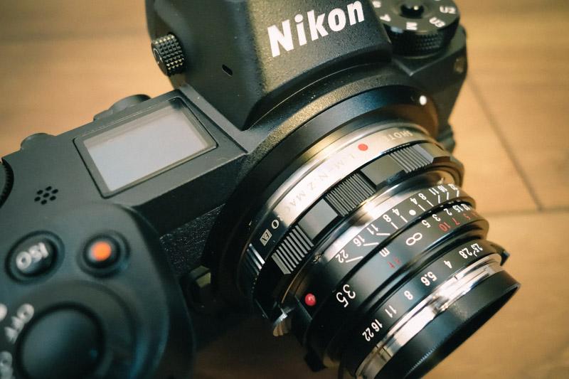 フォクトレンダー 35mm f/2.5 ニコンZ6組み合わせ