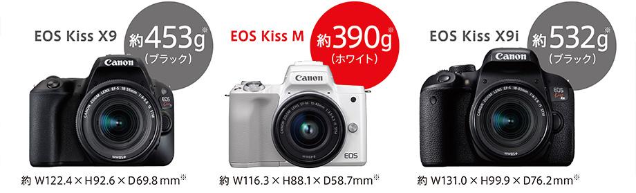 キヤノンEOS Kiss M約390g