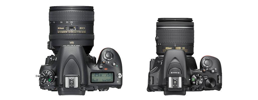 左:フルサイズ ニコンD750 右:APS-Cサイズ ニコンD5600